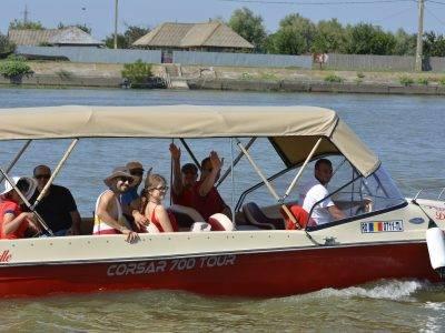 Transport cu barca direct Tulcea - Maliuc – Gorgova - Mila 23